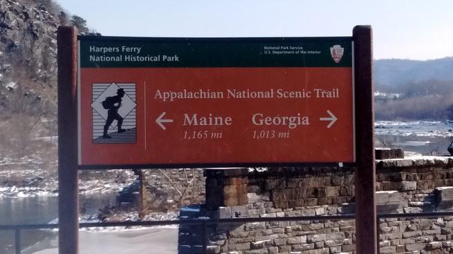 Appalachain trail sign